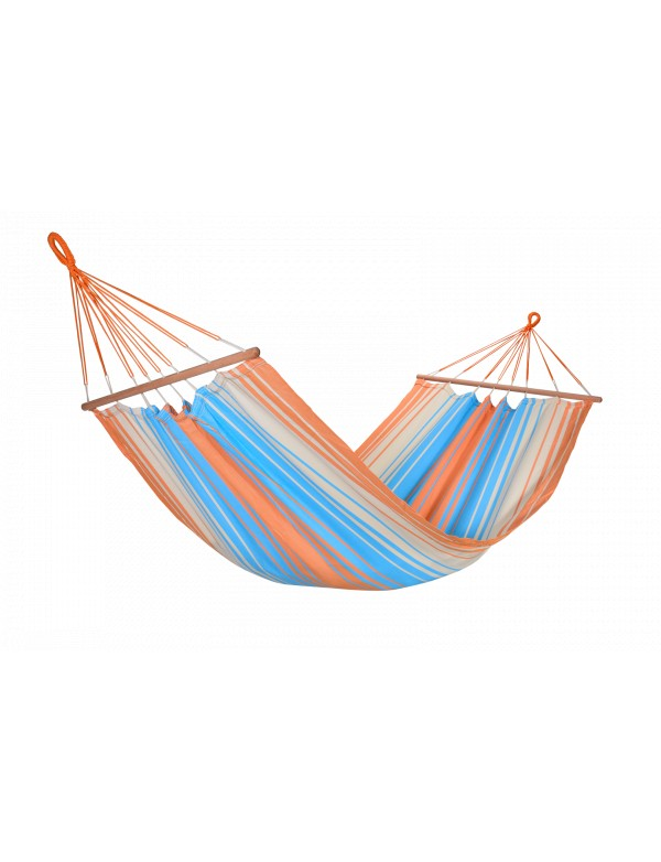 Kolor - Hammock with orange, blue and ecru stripes 100% FSC certified
