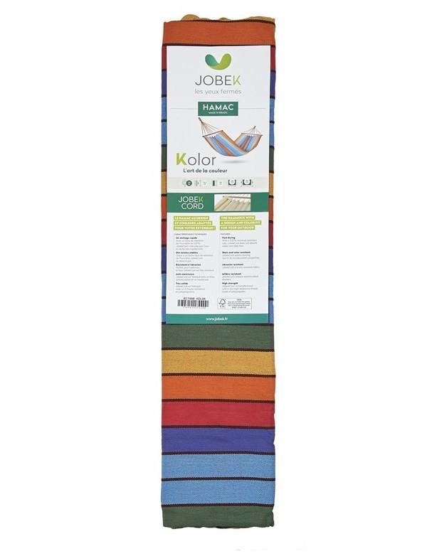 Kolor - Hammock with green, blue and ecru stripes 100% FSC certified