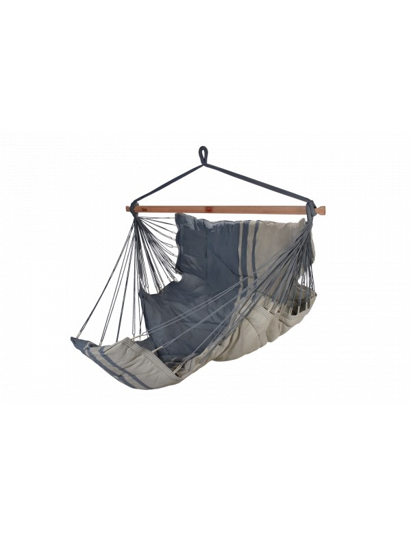 Konfort - hammock chair XXL light and dark grey 100% FSC certified