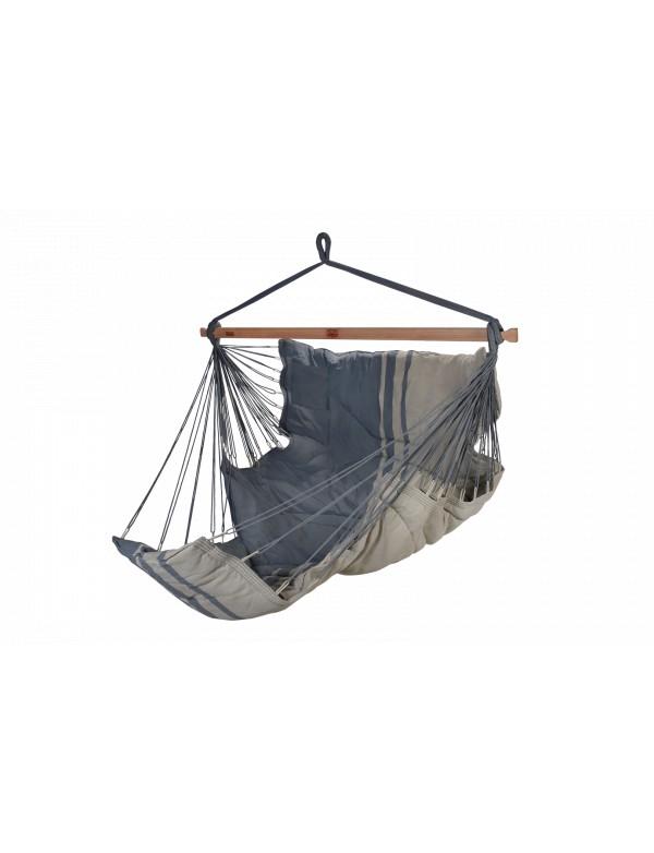 Konfort - hammock chair XXL light and dark grey 100% FSC certified