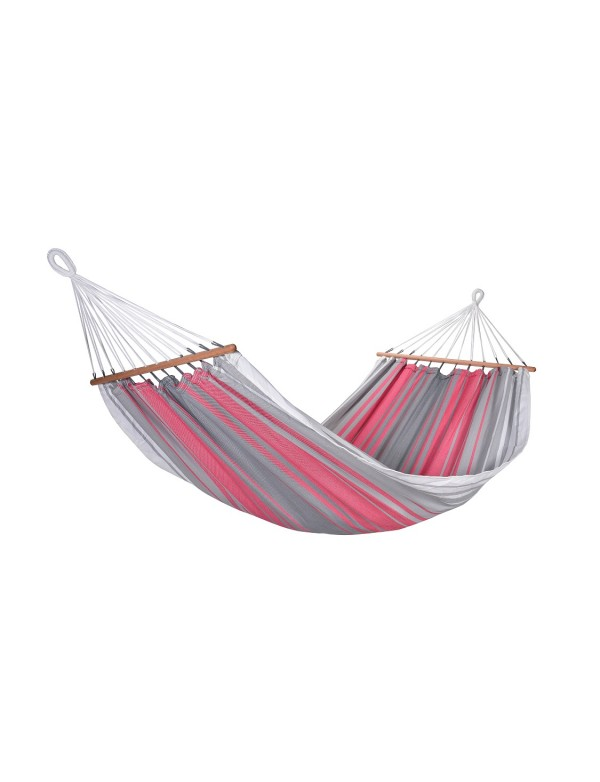 hammock graphiK with red grey end ecru stripes 100% FSC certified
