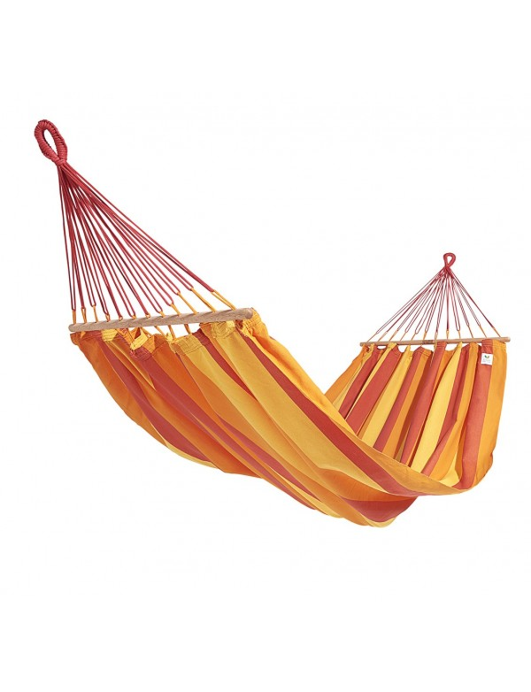 GraphiK - hammock with red orange and yellow stripes 100% FSC certified
