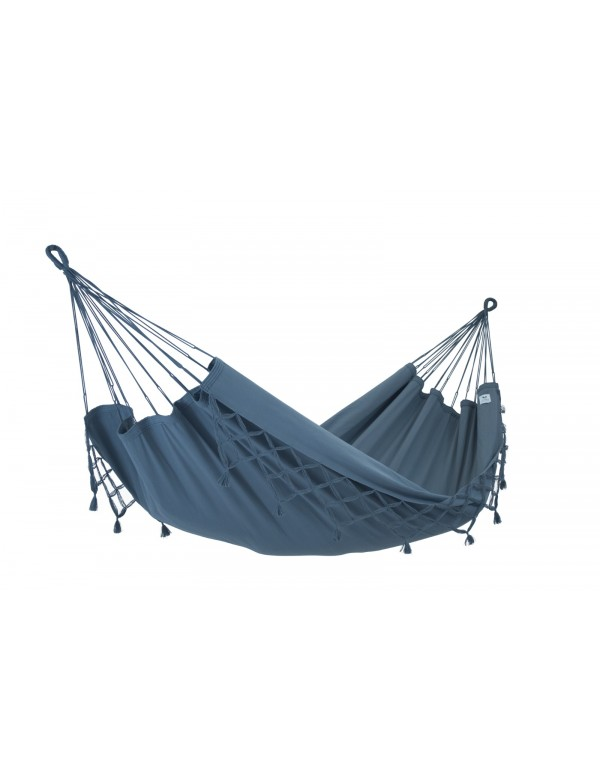 Kocon - Traditional Hammock Anthracite with fringes