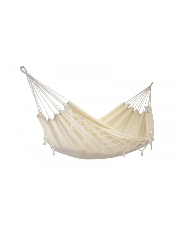 Kocon - Traditional Hammock Ecru with fringes